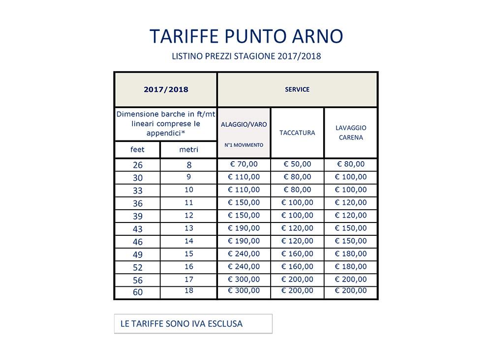 Listino prezzi service 2017/2018